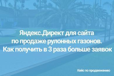 Яндекс.Директ для сайта по продаже рулонных газонов. Как получить в 3 раза больше заявок